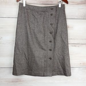 Talbots Donegal Tweed A-line Skirt